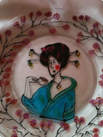 Такая вот витражная тарелка у меня получилась фото 4