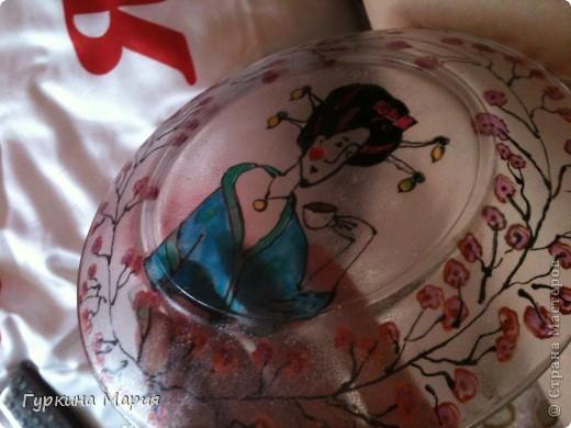 Такая вот витражная тарелка у меня получилась фото 5