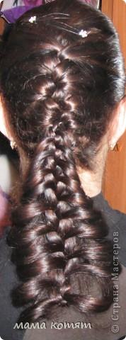 """Доброго всем времени суток. я очень долго складировала фото своих причёсок и """"наконец настал тот час""""))). эту причёску я делала пару недель назад своей куме - она шла на день варенья). вот отсель я научилась плести из хвоста такую шикарную косу http://stranamasterov.ru/node/316387. спасибо Поганочке за такую отличную причу) я и себе уже несколько раз и в разных вариантах заплетала, но всё никак не запечатлею. фото 1"""