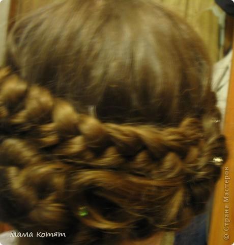 """Доброго всем времени суток. я очень долго складировала фото своих причёсок и """"наконец настал тот час""""))). эту причёску я делала пару недель назад своей куме - она шла на день варенья). вот отсель я научилась плести из хвоста такую шикарную косу http://stranamasterov.ru/node/316387. спасибо Поганочке за такую отличную причу) я и себе уже несколько раз и в разных вариантах заплетала, но всё никак не запечатлею. фото 20"""