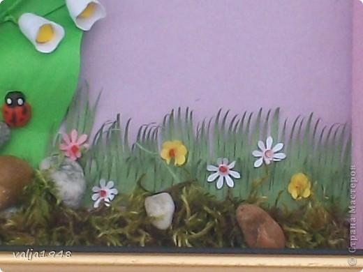 Здравствуйте  дорогие  жители  Страны  Мастеров! Весна  прошла !  .Уже цветут  другие цветы! Отцвели  ландыши,  а я решила  их  сохранить  в квиллинге. Делала  по  МК  Ольги  Ольшак. Очень старалась, а как получилось  судить вам! фото 3