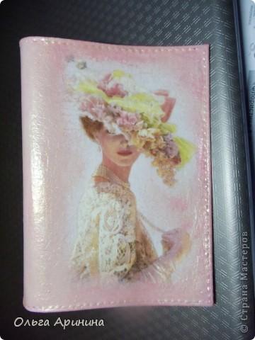 """Кожаная обложка для паспорта """"Жемчужное ретро"""".Кожаная обложка для паспорта  фото 6"""