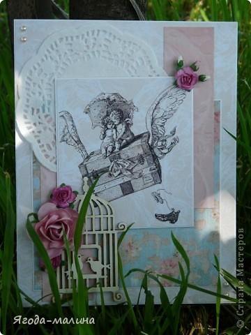 Открытка с ангелочками фото 1