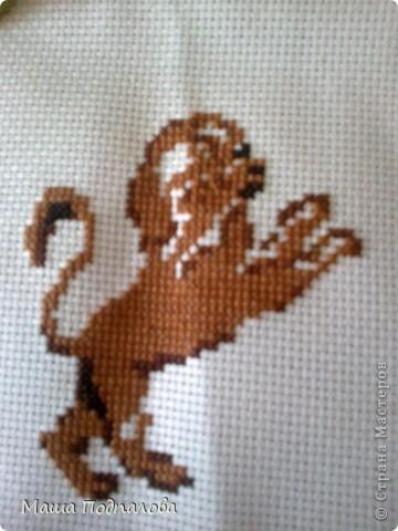 Вышивка крестом льва