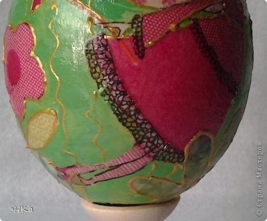 Деревянное яйцо высотой 10 см фото 3