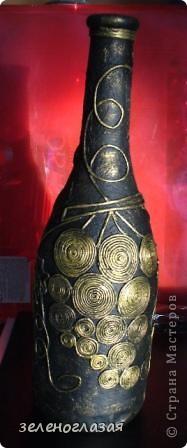 Вот такую именную бутылочку-вазу я решилась смастерить насмотревшись ваших замечательных работ и, конечно же, неповторимых шедевров Татьяны Сорокиной. Спасибо ей огромное за технику и МК! фото 2