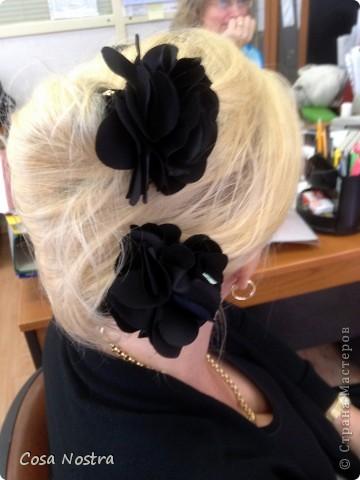 Заколка для волос а-ля Sofist-o-twist вариант Мальвина, закрученная в полъоборота. фото 7
