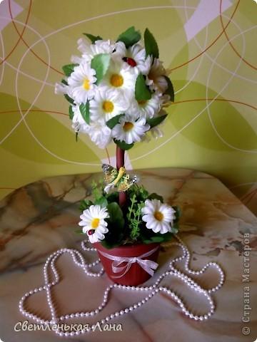 Здравствуйте, жители и гости СМ! Заказали мне еще одно ромашковое...примерно такое-же я уже делала, попросили повторить...так что дубль - 2...))) Вот первое: http://stranamasterov.ru/node/301848 фото 5