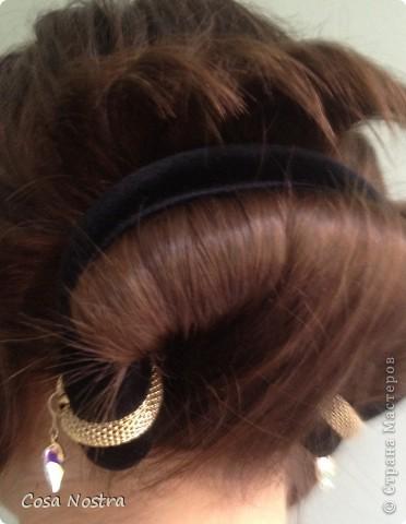 Заколка для волос а-ля Sofist-o-twist вариант Мальвина, закрученная в полъоборота. фото 1