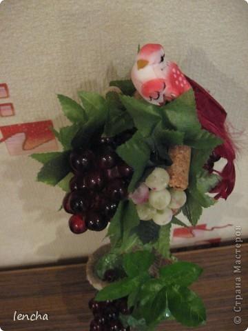 Здравствуйте, мои дорогие жители Страны Мастеров!!! Сегодня я хочу показать вам свой новый топиарий--виноградный. Подобный у меня уже был, но я оставила его себе, а теперь решила сделать ещё один. (вдруг он кому-нибудь приглянется :))) фото 8