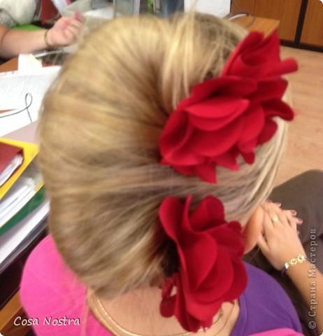 Заколка для волос а-ля Sofist-o-twist вариант Мальвина, закрученная в полъоборота. фото 2