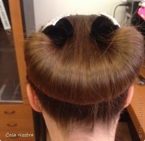Заколка для волос а-ля Sofist-o-twist вариант Мальвина, закрученная в полъоборота. фото 3