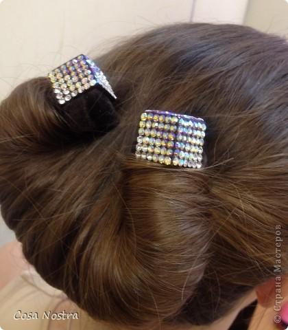 Заколка для волос а-ля Sofist-o-twist вариант Мальвина, закрученная в полъоборота. фото 4