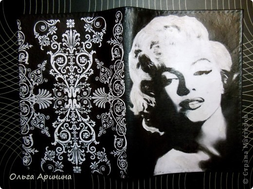 """Кожаная обложка для паспорта """"Фламенко"""", декорированная в технике декупаж, подрисовка акриловыми красками, покрыта стекловидным лаком. Обложка делалась для девушки, супруг которой не очень любит на ней красный цвет, поэтому мы решили оторваться на паспортной обложке по полной!!! фото 4"""