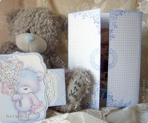 просто посмотрите...это открыточка - раскладушка с фотографией моего племяшки...  итак - РАЗ! фото 2