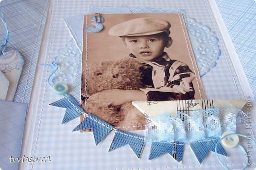 просто посмотрите...это открыточка - раскладушка с фотографией моего племяшки...  итак - РАЗ! фото 5