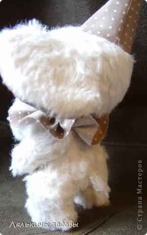 Растерянный малыш. ростик 10 см. 6 шплинтов,вискоза для мишек.американский хлопок. Может менять выражение на мордочке в зависимости от расположения глазок. фото 8