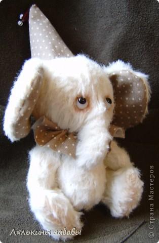 Растерянный малыш. ростик 10 см. 6 шплинтов,вискоза для мишек.американский хлопок. Может менять выражение на мордочке в зависимости от расположения глазок. фото 4