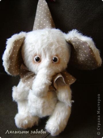 Растерянный малыш. ростик 10 см. 6 шплинтов,вискоза для мишек.американский хлопок. Может менять выражение на мордочке в зависимости от расположения глазок. фото 1