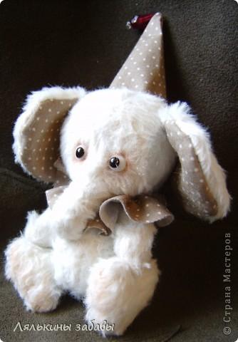 Растерянный малыш. ростик 10 см. 6 шплинтов,вискоза для мишек.американский хлопок. Может менять выражение на мордочке в зависимости от расположения глазок. фото 3