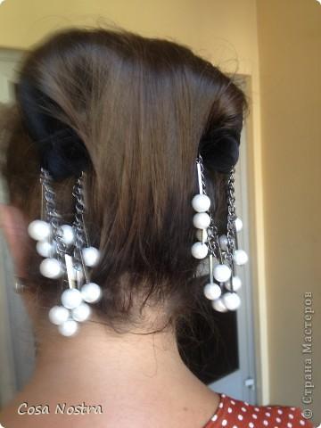 Заколка для волос а-ля Sofist-o-twist вариант Мальвина, закрученная в полъоборота. фото 6