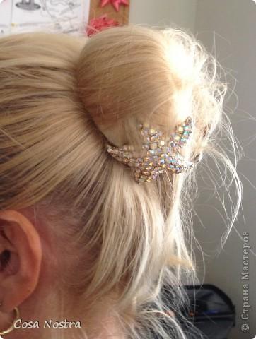 Заколка для волос а-ля Sofist-o-twist вариант Мальвина, закрученная в полъоборота. фото 8