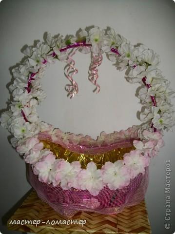 Эту корзину я делала для своей свадьбы получилась лучше чем в магазине да и дешевле. фото 1