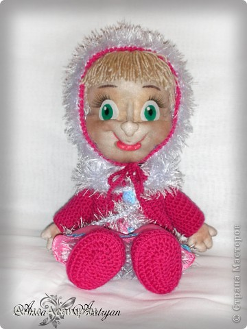 Вот и родилась еще одна Маша, сделала на заказ. Рост куклы 30см. фото 3