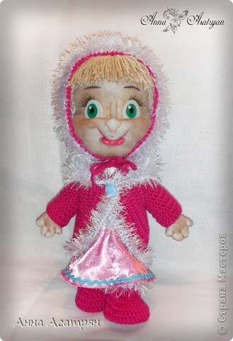 Вот и родилась еще одна Маша, сделала на заказ. Рост куклы 30см. фото 4