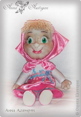 Вот и родилась еще одна Маша, сделала на заказ. Рост куклы 30см. фото 2