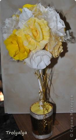 Свадебный топиарий для украшения стола фото без вспышки фото 2