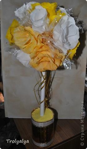 Свадебный топиарий для украшения стола фото без вспышки фото 3