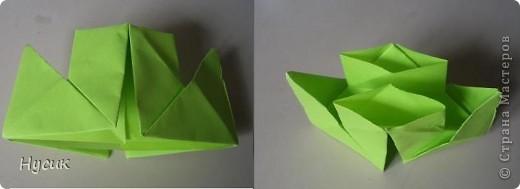 Не так давно я вела кружок оригами в загородном лагере. И на презентацию кружка всегда рассказывала эту сказку. Она тоже очень давняя. Побродив по Стране мастеров, нашла еще два варианта  http://stranamasterov.ru/node/19044?c=favorite http://stranamasterov.ru/node/302273?c=favorite  Но все же решила выложить и свою с целью дополнить уже имеющиеся, так как переходы от одной фигуры к другой  в разных вариантах разные. А вдруг и пригодиться кому. фото 5
