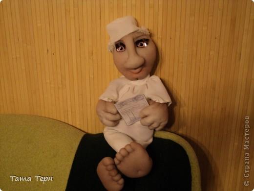 Идею этой жутко сексапильной дамы подсмотрела у Елены Аржановой, за что ей большое спасибо. Перед дарением сделала ей зубки, получилось интересней. фото 2