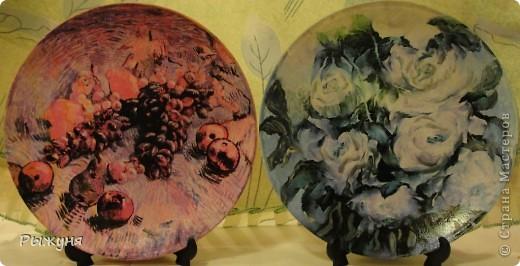 Здравствуй  СМ!!!!  предлагаю оценить тарелочки летние с распечатками, сюжеты цветочные ....... яркие, красочные, красивые  картины известных художников... фото 2
