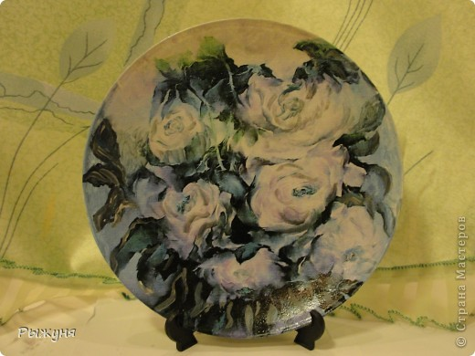 Здравствуй  СМ!!!!  предлагаю оценить тарелочки летние с распечатками, сюжеты цветочные ....... яркие, красочные, красивые  картины известных художников... фото 4