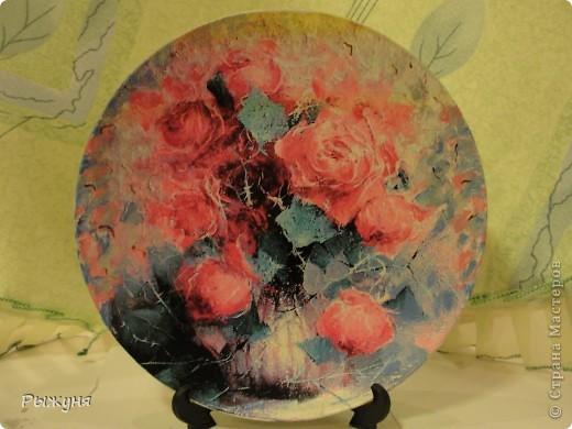 Здравствуй  СМ!!!!  предлагаю оценить тарелочки летние с распечатками, сюжеты цветочные ....... яркие, красочные, красивые  картины известных художников... фото 3