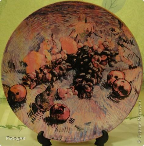 Здравствуй  СМ!!!!  предлагаю оценить тарелочки летние с распечатками, сюжеты цветочные ....... яркие, красочные, красивые  картины известных художников... фото 6