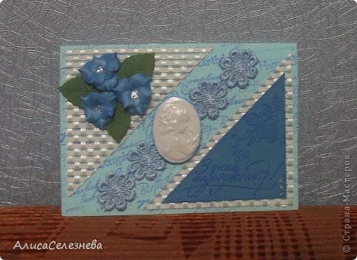 Три открытки одного типа, немножко поиграла с цветами. фото 5