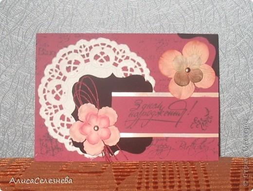 Три открытки одного типа, немножко поиграла с цветами. фото 3