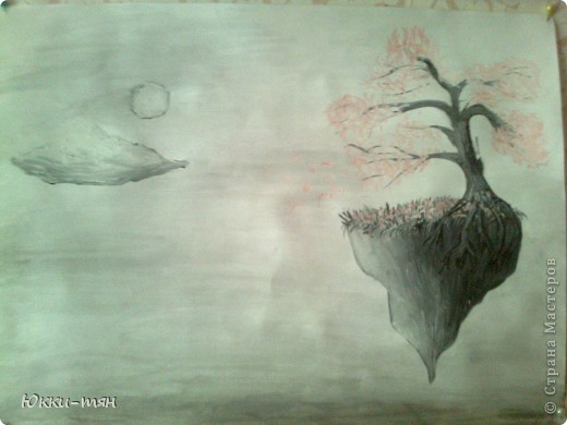 Рисовала я в школу, не помню какая тема была, но вот что получилось. Качество не очень, так как фоткала на телефон, однако всё что нужно видно;)