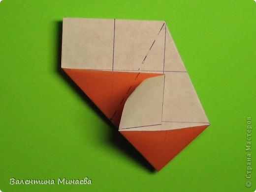 Горная фиалка (Mountain violet) автор: Валентина Минаева (Valentina Minayeva) соотношение бумаги 1:2 для бумаги с двусторонним эффектом Для данной кусудамы брала размер бумаги 11,0 х 5,5 см модули несимметричные, 60 штук итог - 12 см без клея в основе кусудамы лежит многогранник икосаэдр  фото 16