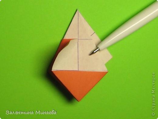 Горная фиалка (Mountain violet) автор: Валентина Минаева (Valentina Minayeva) соотношение бумаги 1:2 для бумаги с двусторонним эффектом Для данной кусудамы брала размер бумаги 11,0 х 5,5 см модули несимметричные, 60 штук итог - 12 см без клея в основе кусудамы лежит многогранник икосаэдр  фото 17