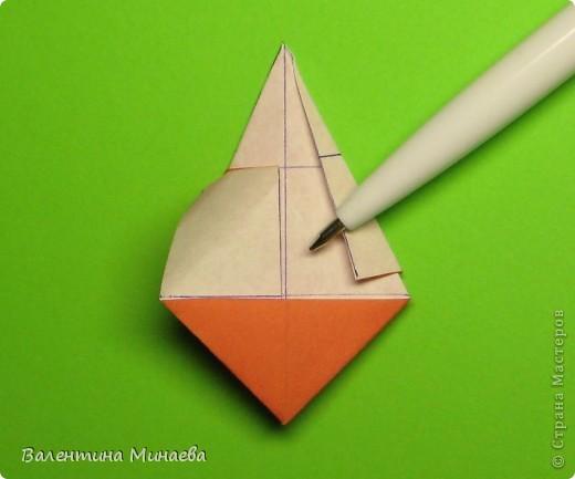 Горная фиалка (Mountain violet) автор: Валентина Минаева (Valentina Minayeva) соотношение бумаги 1:2 для бумаги с двусторонним эффектом Для данной кусудамы брала размер бумаги 11,0 х 5,5 см модули несимметричные, 60 штук итог - 12 см без клея в основе кусудамы лежит многогранник икосаэдр  фото 18
