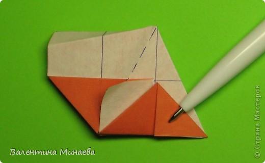 Горная фиалка (Mountain violet) автор: Валентина Минаева (Valentina Minayeva) соотношение бумаги 1:2 для бумаги с двусторонним эффектом Для данной кусудамы брала размер бумаги 11,0 х 5,5 см модули несимметричные, 60 штук итог - 12 см без клея в основе кусудамы лежит многогранник икосаэдр  фото 19