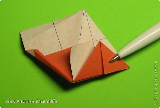 Горная фиалка (Mountain violet) автор: Валентина Минаева (Valentina Minayeva) соотношение бумаги 1:2 для бумаги с двусторонним эффектом Для данной кусудамы брала размер бумаги 11,0 х 5,5 см модули несимметричные, 60 штук итог - 12 см без клея в основе кусудамы лежит многогранник икосаэдр  фото 22
