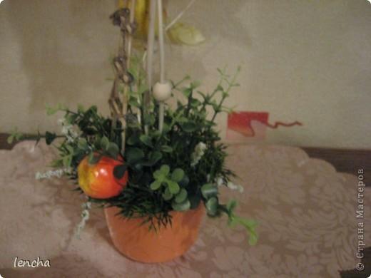 И снова, здравствуйте, мои дорогие!!!!!!!!! Вчера я вам показала свой повторюшный виноградный топиарий, НО......сделала я вчера два топиария, просто успела сфоткать и загрузить только один. А сегодня показываю вам свою новиночку---фруктовое деревце. фото 5