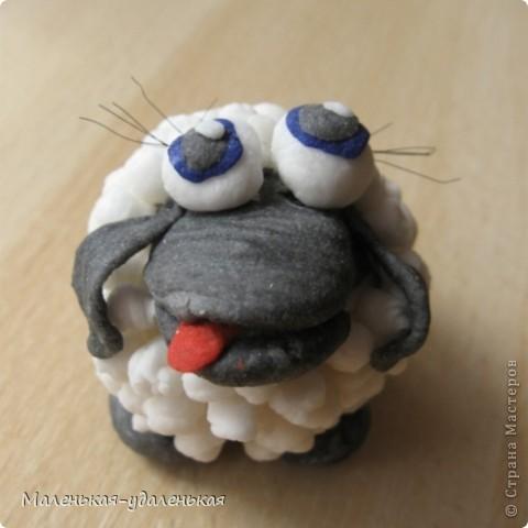 Вот увидела на просторах СМ овечку http://stranamasterov.ru/node/198255?c=favorite  и загорелась сделать себе)    Это мой первый опыт работы с холодным фарфором. В принципе понравилось, овечка только чуть-чуть усохла после сушки. фото 4
