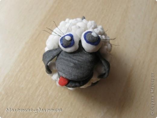 Вот увидела на просторах СМ овечку http://stranamasterov.ru/node/198255?c=favorite  и загорелась сделать себе)    Это мой первый опыт работы с холодным фарфором. В принципе понравилось, овечка только чуть-чуть усохла после сушки. фото 1
