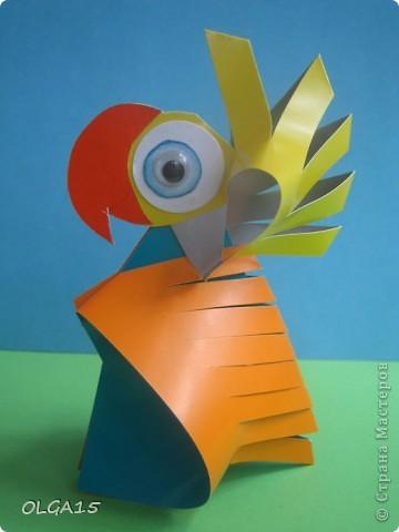 """Вот такие веселые птички получились у меня по книге В.И. Малкова """"Бумажные  фантазии"""". Птицы. Издательство """" Просвещение"""" 2011г.  фото 23"""